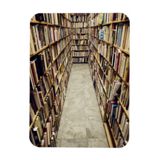 The interior of a second-hand bookshop Sweden. Rectangular Photo Magnet