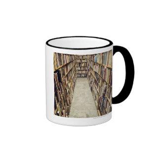 The interior of a second-hand bookshop Sweden. Ringer Coffee Mug