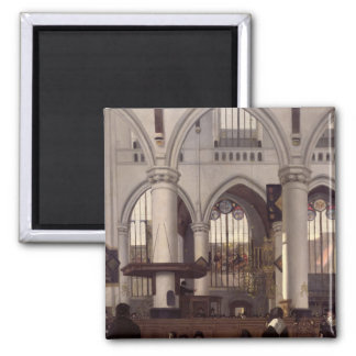 The Interior of Oude Kerk, Amsterdam, c.1660 Magnet