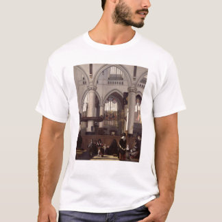 The Interior of Oude Kerk, Amsterdam, c.1660 T-Shirt