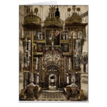 The interior of the Holy Sepulchre, Jerusalem, Hol Greeting Card