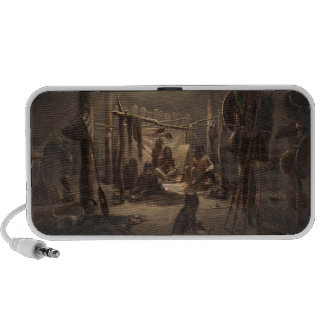 The Interior of the Hut of a Mandan Indian Chief iPhone Speakers