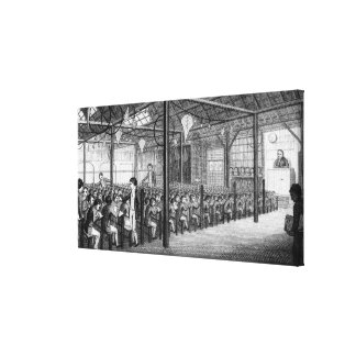 The Interior of the Royal Free School Gallery Wrapped Canvas