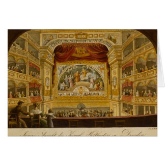 The interior of the royal theatre at Dresden Card