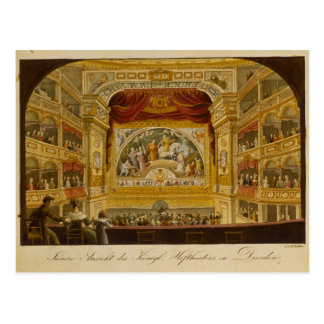 The interior of the royal theatre at Dresden Postcard