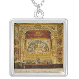 The interior of the royal theatre at Dresden Silver Plated Necklace