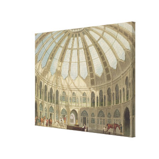 The Interior of the Stables, from 'Views of The Ro Canvas Print