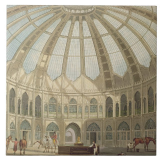 The Interior of the Stables, from 'Views of The Ro Ceramic Tile