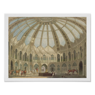 The Interior of the Stables, from 'Views of The Ro Poster