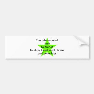 The International Issue Tolerance Star Green Lt Bumper Sticker