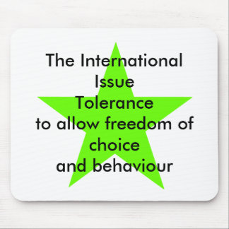 The International Issue Tolerance Star Green Lt Mouse Pad