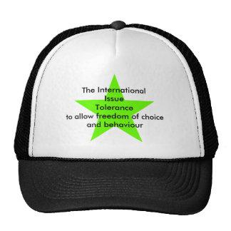 The International Issue Tolerance Star Green Lt Trucker Hat