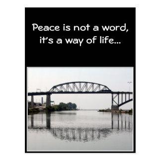 The International Peace Bridge Postcard