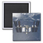 The International Space Station 13 2 Inch Square Magnet