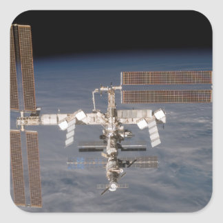 The International Space Station 16 Square Sticker