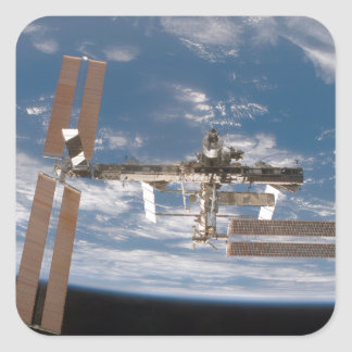 The International Space Station 17 Square Sticker