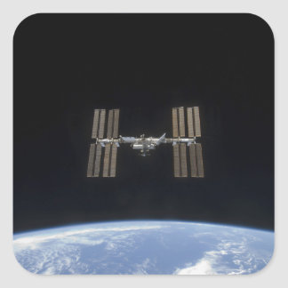 The International Space Station 7 Square Sticker