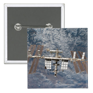 The International Space Station 8 2 Inch Square Button