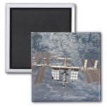 The International Space Station 8 2 Inch Square Magnet