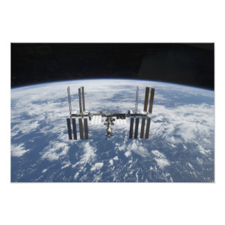 The International Space Station in orbit Photo Print
