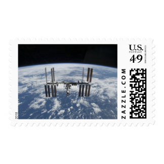 The International Space Station in orbit Postage
