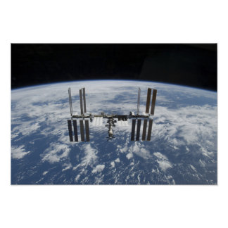 The International Space Station in orbit Poster