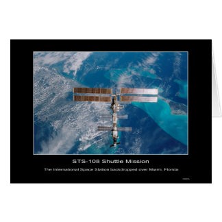 The International Space Station ov... - Customized Card