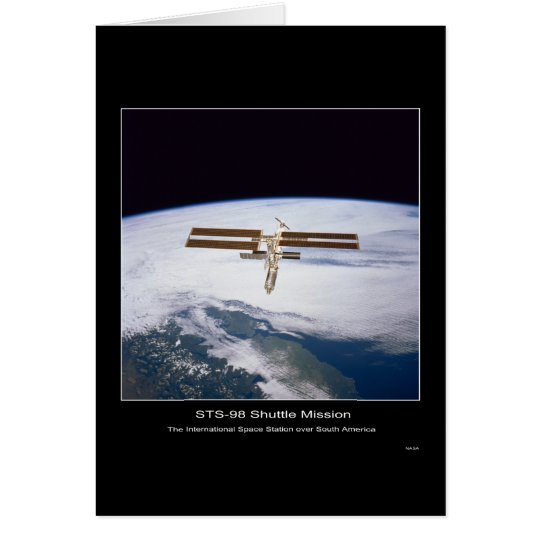 The International Space Station over South America Card
