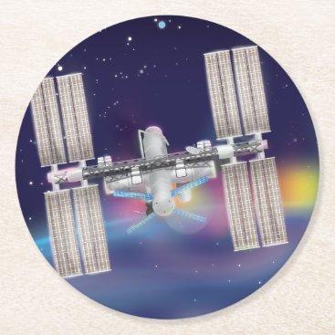 bartonleclaydesign The International Space Station Round Paper Coaster