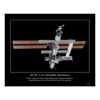 The International Space Station view from NASA Poster
