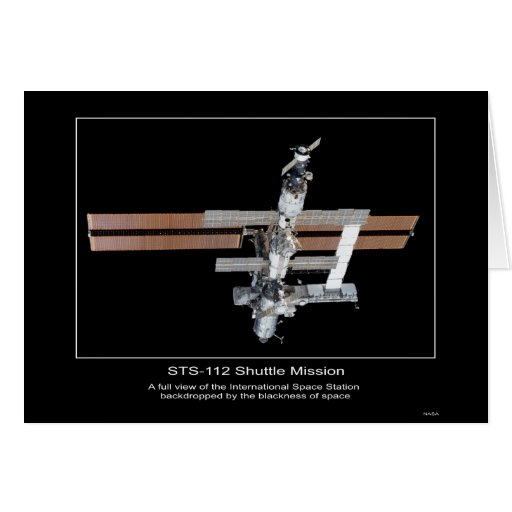 The International Space Station view from NASA STS Greeting Card