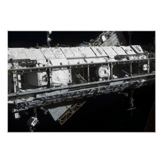 The International Space Station's starboard tru Poster