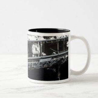 The International Space Station's starboard tru Two-Tone Coffee Mug