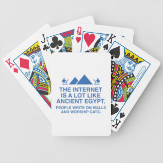 The Internet Is A Lot Like Ancient Egypt Bicycle Playing Cards