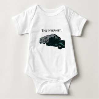 The Internet is not a truck Baby Bodysuit