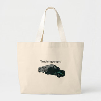 The Internet is not a truck Large Tote Bag