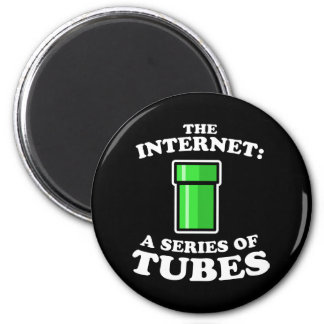 the internet - it�s a series of tubes - ted steven 2 inch round magnet