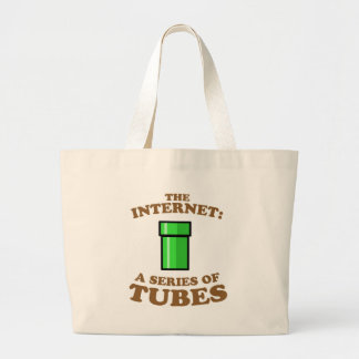 the internet - it�s a series of tubes - ted steven large tote bag