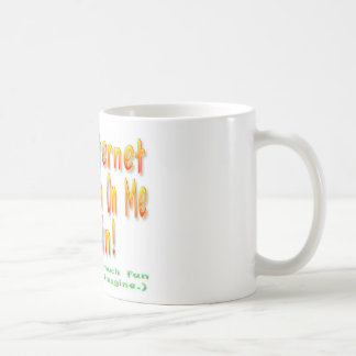 The Internet Went Down Classic White Coffee Mug