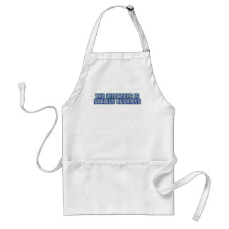 The Internets Is Serious Business Adult Apron