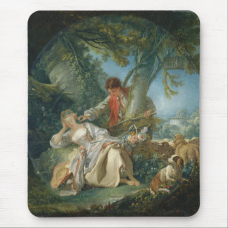The Interrupted Sleep - François Boucher Mouse Pad
