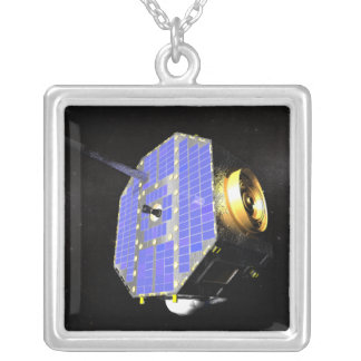 The Interstellar Boundary Explorer satellite Silver Plated Necklace