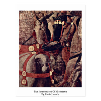 The Intervention Of Micheletto By Paolo Uccello Postcard