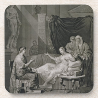 The Interview of Augustus and Cleopatra, engraved Drink Coasters