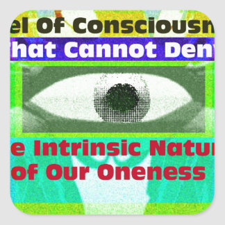 The intrinsic Nature of our Oneness Square Sticker