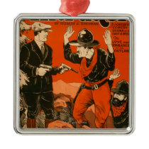 The Intruder - Western Cowboy Comedy Theatrical Metal Ornament