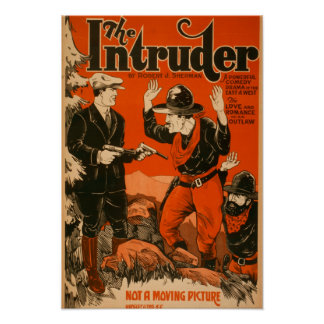 The Intruder - Western Cowboy Comedy Theatrical Poster