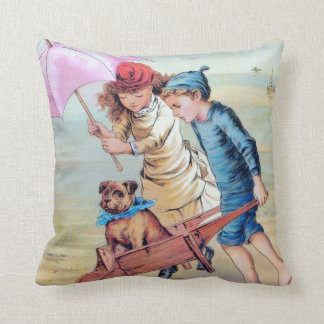 The invalid dog vintage children pillow 1800's