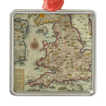The Invasions of England & Ireland Metal Ornament