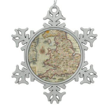 The Invasions of England & Ireland Snowflake Pewter Christmas Ornament